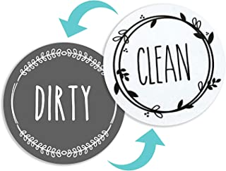 NEWEST DESIGN Dishwasher Magnet Clean Dirty Sign Indicator, TRENDY universal double sided..