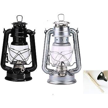 ケロシン(灯油) ランタン ポータブルガラスランタンの装飾屋外キャンプライト キャンプ 防災用 ライト 照明 ランタン