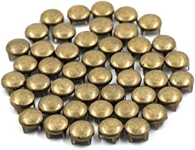 100 stuks ronde klinknagels vier klinknagels metalen kop klinknagels voor leer punk rock stud voor kleding, tassen, schoen...