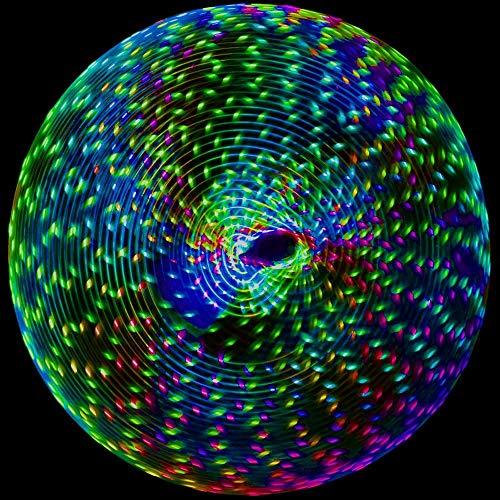 QYWSJ LED Hula Hoop, Sport Hoop, Tanz und Fitness Glow Weighted Light Up Hula Hoops für Erwachsene und Kinder, Gewicht Bodybuilding Hoops Spielzeug, tragbare abnehmbare Design