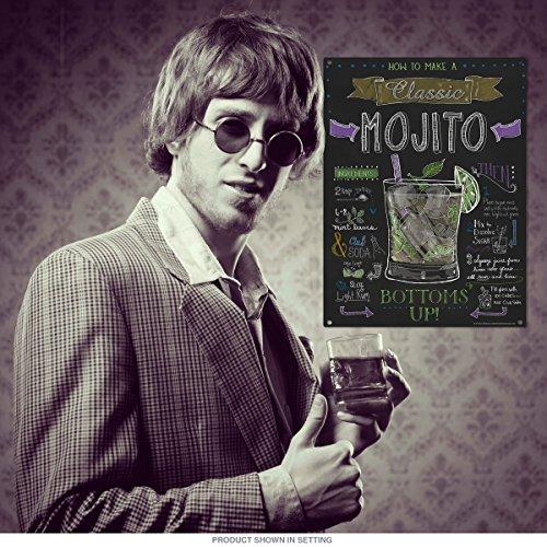 Mojito Recette Tableau Noir Style Sign Barre de Décor 12 x 16