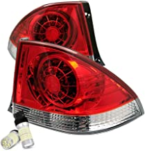 [For 2001-2005 Lexus IS300 & Toyota Altezza] VIPMOTOZ Premium LED Tail Light Lamp - Full SMD LED Backup Bulbs, Rosso Red Lens, Driver & Passenger Side