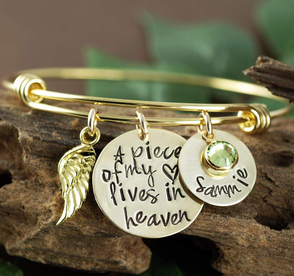 Piece 5 ☆ very popular of my Heart New color Bracelet Remembrance Gift Brac Memorial Gold