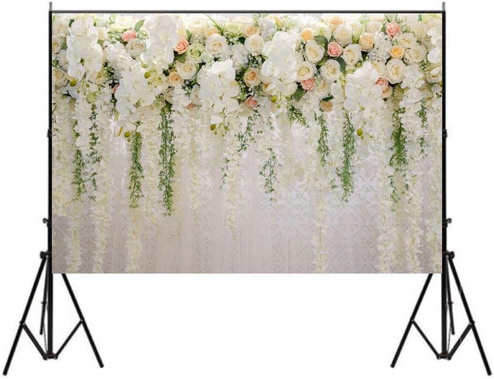 Lelinta Romantic Rose 5X7ft Romantic Red White Rose Sea Photography Backdrops Studio Props
