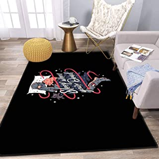 The Sleeping Dead Area Rug and Yoga, Movie Carpet for Home Living Room, Large Anti Slip Contemporary Rug for Floor Home Door