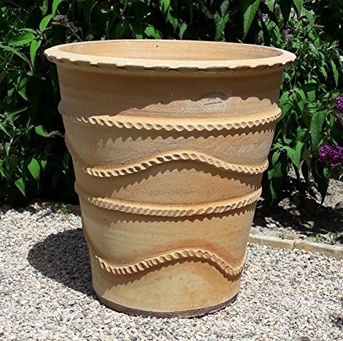 Céramique crète | grand pot de fleurs en terre cuite fait main | 50 cm | jardinière antigel de Crète | Balcon terrasse jardin, acanthe