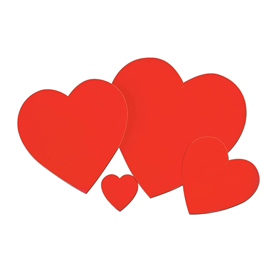 Beistle 77760-15 24-Piece Printed Heart Cutouts, 15-Inch