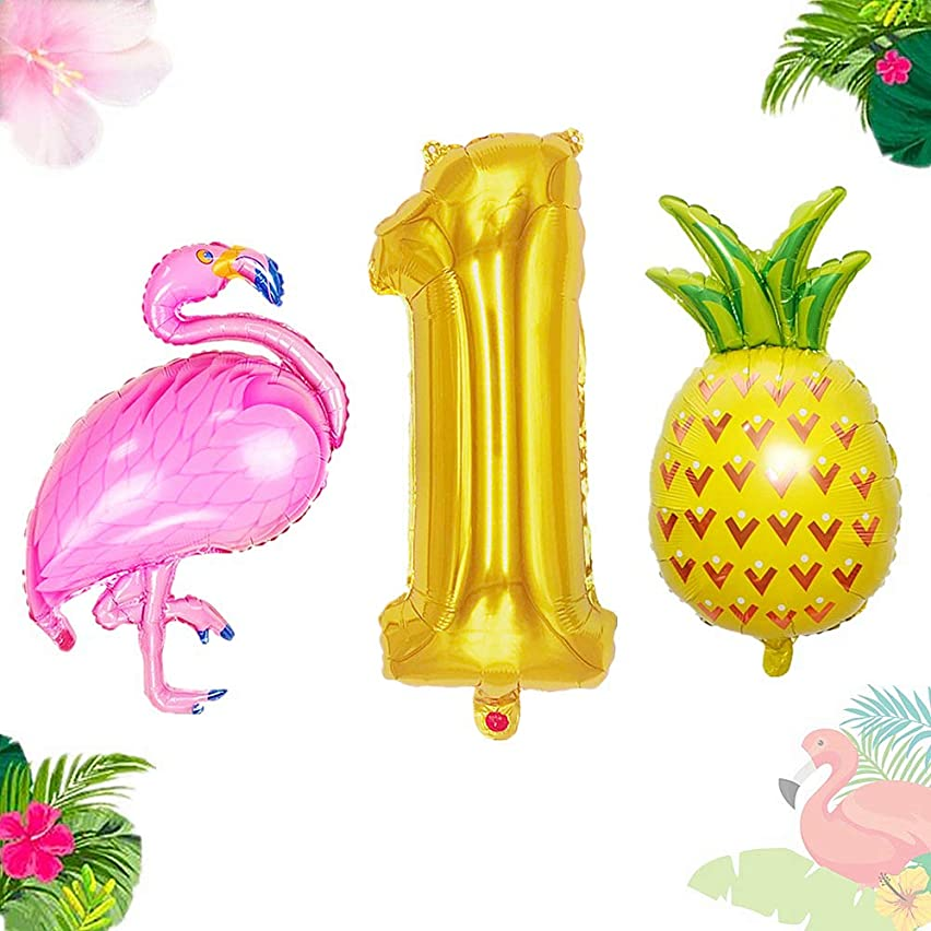 JeVenis 3PCS Flamingo 1st Birthday Balloon One Balloon Flamingo 1st Birthday Decoration Flamingo Party Supplies 1st Birthday Party Birthday Decorations
