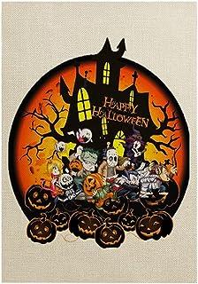 ASKLKD Bannière de Jardin d'accueil d'halloween, Vertical de Conception d'impression Double Face ou traite des décorations...