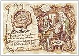 Geschenk Notar Rechtsberatung Gedicht Zeichnung Color 20 x 15 cm