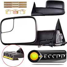ECCPP Towing Mirrors Dodge Ram Pair Power Operation Manual Folding Replacement fit for 1994-1997 Dodge Ram 1500 2500 3500 Truck 1994 1995 1996 1997