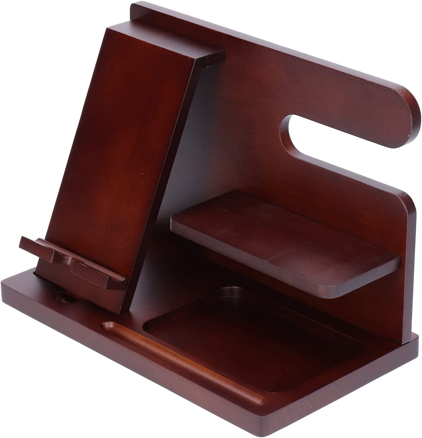Lazmin112 NEW before selling ☆ Wood Phone Storage Desktop Tampa Mall Universal St Bracket