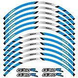 Tdz Equipos de Motociclismo Accesorios neumático de la Rueda del Borde de la decoración Adhesiva Reflectante de la Etiqueta engomada for BMW G310R (Color : 240496)