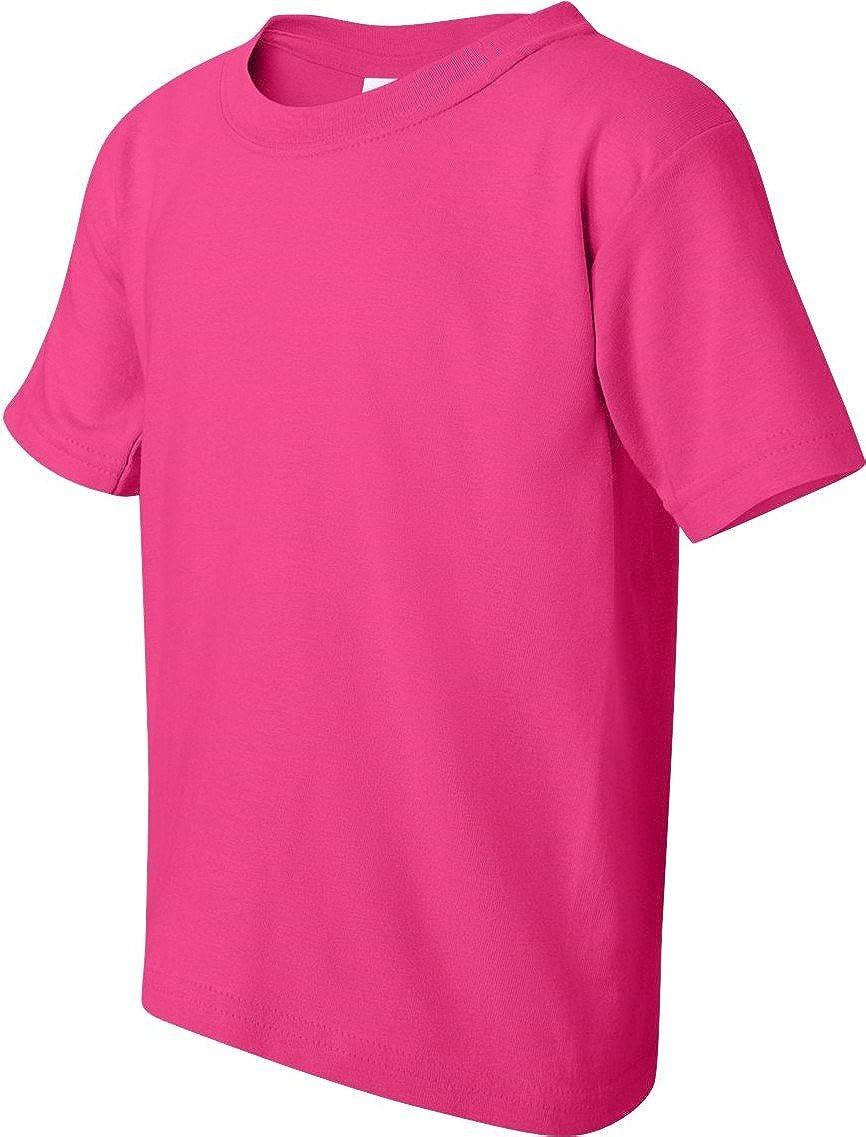 Gildan Heavy Cotton Big Boys T-Shirt (5000B)-Heliconia,Small