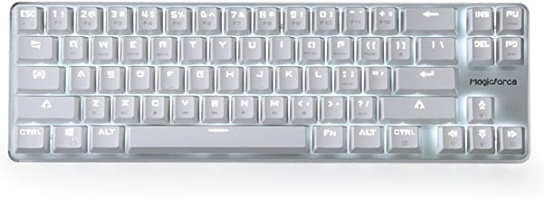 Mechanical Keyboard Gaming Keyboard GATERON Red Switch Wired Backlit Mechanical Mini Design (60%) 68 Kyes Keyboard White Magicforce Qisan