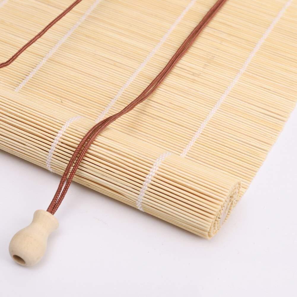 Persianas for persianas enrollables Sombrilla Cortina de aislamiento Bloqueador solar Bambú 75% Sombreado Persianas enrollables de bambú Persianas romanas Opciones de tamaños múltiples: Amazon.es: Hogar