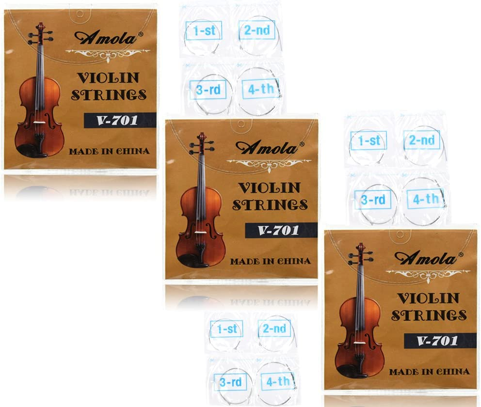 3 Packs Full Easy-to-use Set Replacement Stainless Violin 4 Str Steel Ranking TOP4 Size