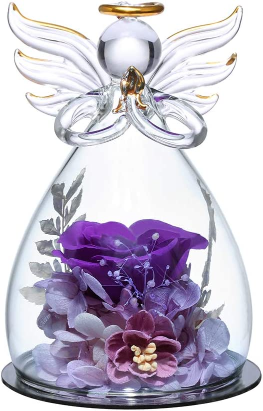 ANLUNOB Flower Birthday Gifts San Jose Mall Special price for a limited time for with Women Pretty Angels Purp