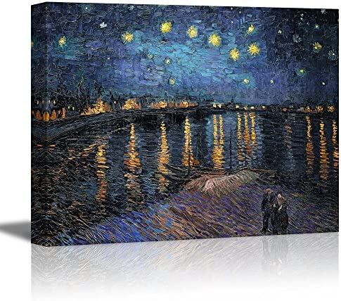 wall26 Starry Night Over The Rhone by Vincent Van Gogh Oil Painting Reproduction on Canvas Prints product image