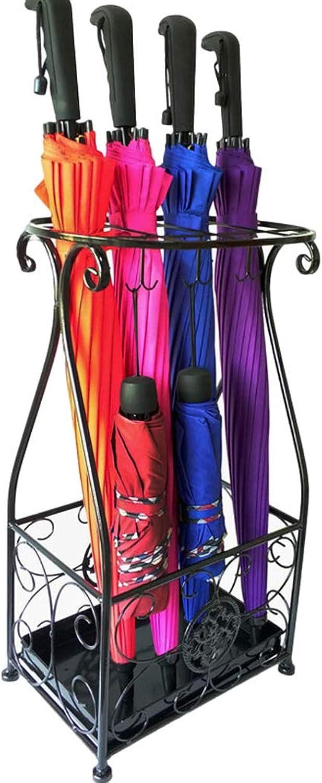 CQ Umbrella Stand Hotel Lobby Home Wrought Iron Umbrella Umbrella Bucket Storage Bucket Floor-Standing Folding Umbrella Shelf