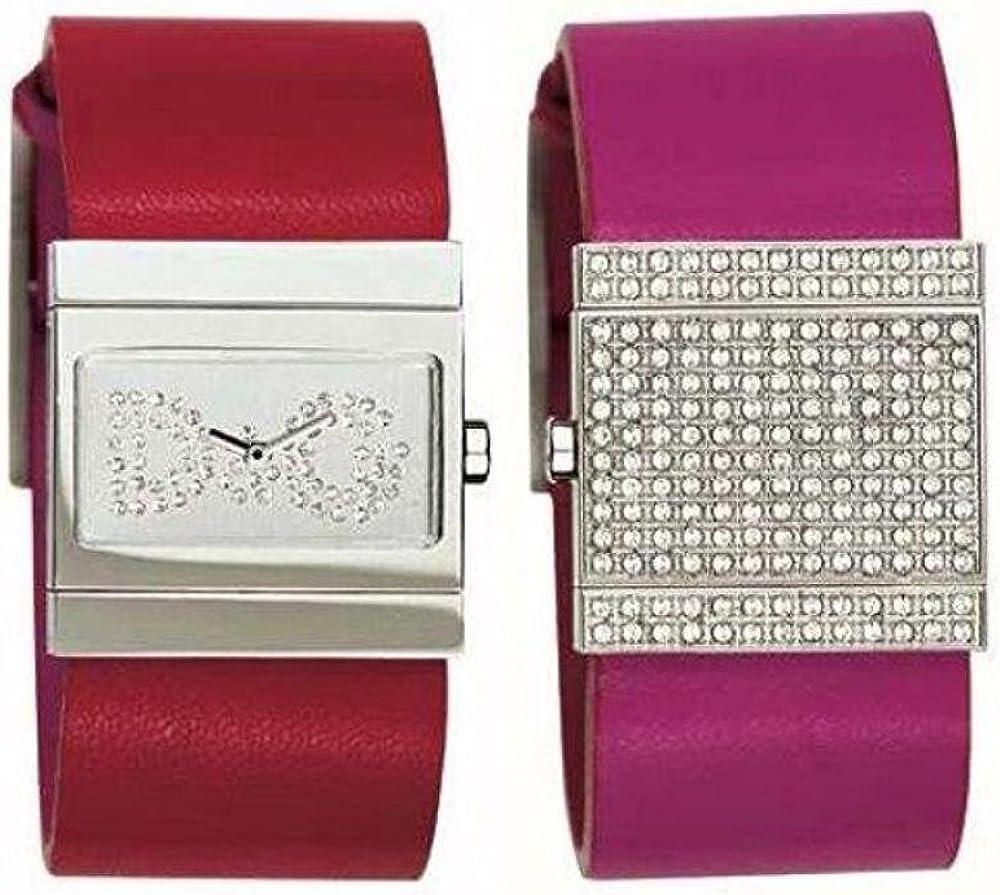 Dolce & gabbana,orologio da donna reversibile: da una parte orologio dall`altra bracciale,cassa acciaio lucido DW0013
