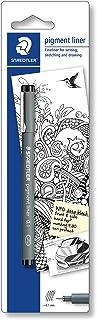 Staedtler 30802-9BKD pigment liner czarny, długa metalowa końcówka, 0,2 mm, opakowanie typu blister