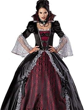 Fanessy Femme Deguisement Vampire Noir Halloween Robe De Fete Toussaint Mariee Du Cimetrere Party Soiree Jeu De Role Amazon Fr Jeux Et Jouets