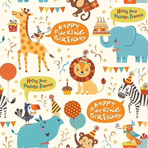 Happy Fucking Birthday Wrapping Paper product image