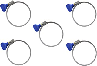 """Taytools 114913 5-Piece 2-1/2"""" Hose Clamp Keyed Thumb Screw Easy Release Dust Collector Hose Clamps"""