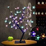 LED Fiori di albero di Bonsai da banco di fioritura di ciliegio, rami neri...