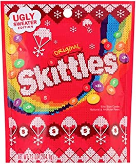 Skittles Original Ugly Sweater Holiday Christmas Candy Bag, 7.2 ounce (1)