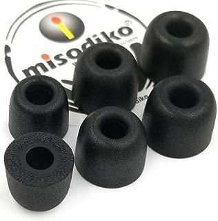 misodiko M490 Memory Foam Earbuds Tips for Sennheiser CX200 CX 300 II 275 475 IE60 MM30i / DUNU DN-2000/ ATH-IM70/ Skullcandy Ink'd Method Wireless/KZ- Replacement Earphones Eartips (3-Pairs, Small)