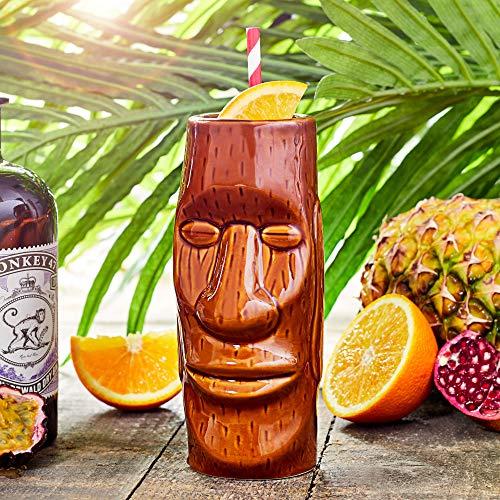 bar@drinkstuff Easter Island Tiki Mug 14oz / 415ml - Ceramic Hawaiian Cocktail Mug