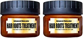 ALLCOME Soft Hair Conditioner Hair Detoxifying Hair Mask Advanced Molecular Hair Roots Treatmen Repairing Conditioner for Damaged Hair Conditioner Ultra-soft For Men Women (Brown -2PC)