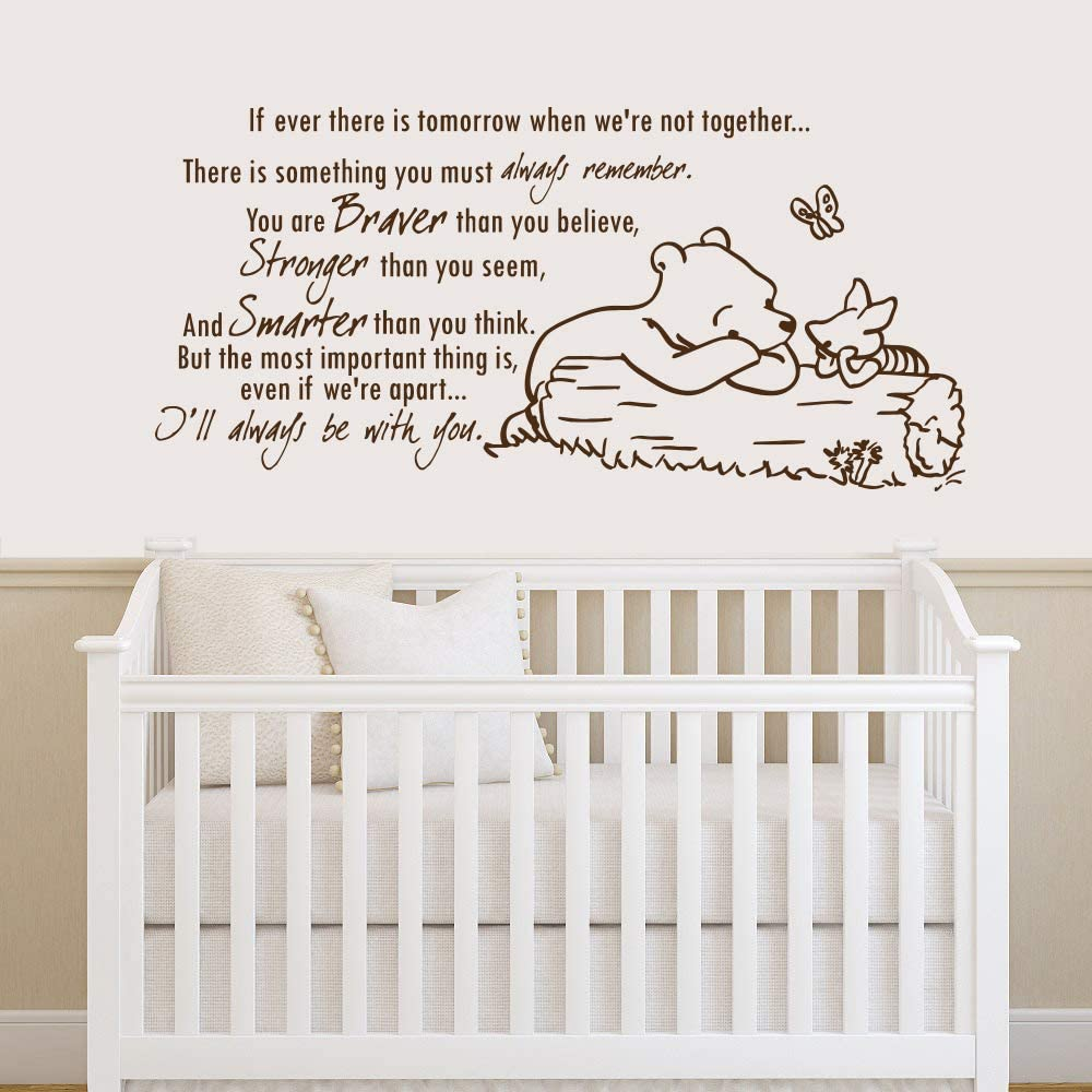 Winnie The Pooh Quote Wall Decal Vinyl Sticker NEW before selling ☆ Decals Quotes Easy-to-use Bra