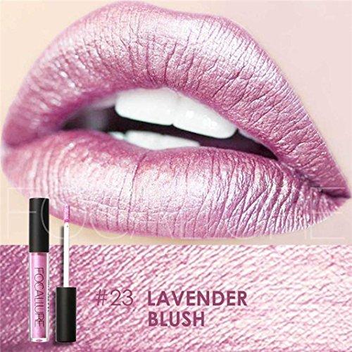 Mingfa. Y, modischer Lippenstift für sexy Lippen, metallisches Lipgloss, schimmernd, matte Lippen...