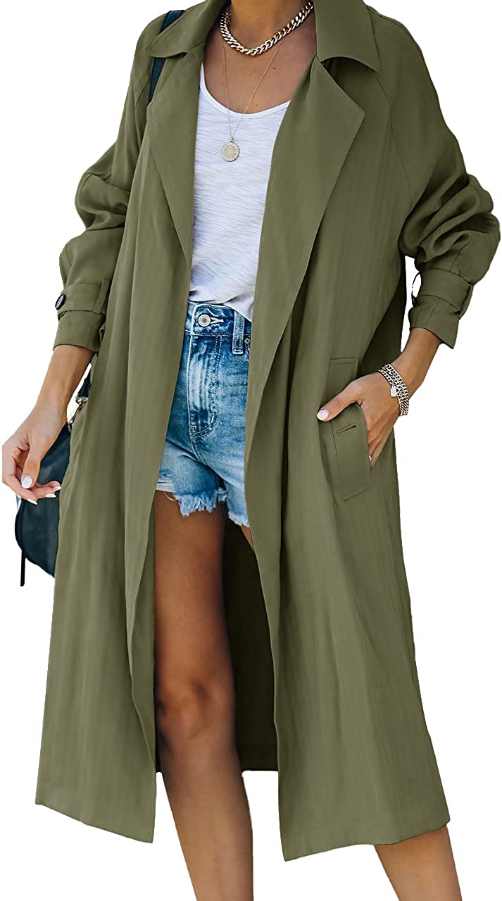 Women's Cash special price Trench Coat Windproof Open Front Out Slim Lapel All items in the store Overcoat