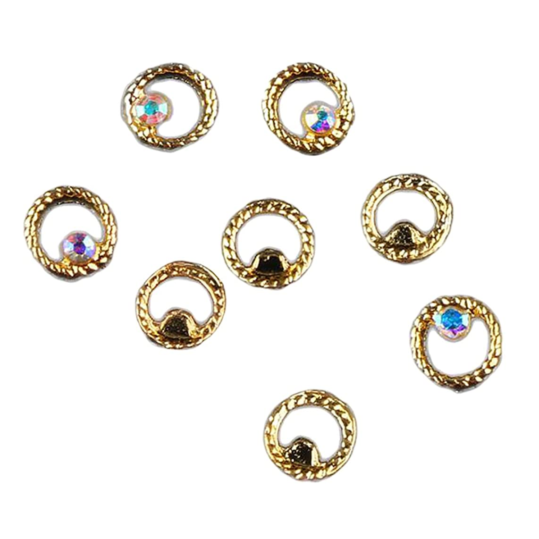 レインコート詩スイッチKesoto マニキュア ダイヤモンド 約50個 3Dネイルアート ヒントステッカー 装飾 全8タイプ選べ - 3