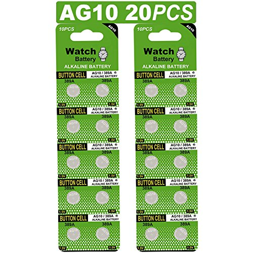 20 Stück AG10 LR1130 1.5V Alkaline Knopfzelle Batterien Ohne Quecksilber