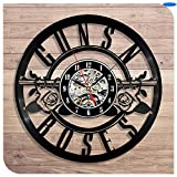 Nuevo Trendy Guns N 'Roses Vinilo Relojes de pared 3D Reloj de cuarzo GN' R Cantante vocal Slash Decoración Artesanía para el hogar, Regalo de vinilo decorativo de pared con disco de vinilo
