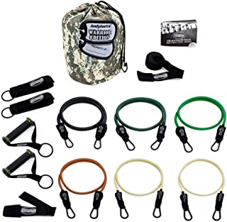 Bodylastics Anti-SNAP Warrior Edition Resistance Band Sets Come with 6 or 8 Exercise Tubes,  Heavy Duty Components,  a Small Anywhere Anchor,  a Bag and a User Book.