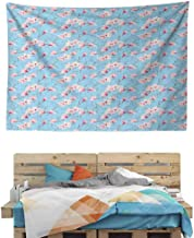 HuaWuChou Spring Season Branches Tapestry, Wall Hanging Decor Decoration Beach Blanket Dorm Room Bed Sheets, 59W x 51.1L Inches