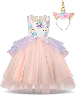 Disfraz Unicornio Niña, Vestidos Unicornio niña, Fiesta de Cosplay, Boda, Partido,Vestido De Princesa