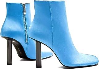 6ae41ebd99f Zara Trafaluc Women s Chelsea Shoes Round Toe Boots Back Zipper Blue Size 35