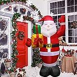 クリスマスインフレータブル5フィートクリスマスブローアップサンタクロース、クリスマスインフレータブル人形、LEDライト付き屋外ヤードガーデンインフレータブルライト付き屋外
