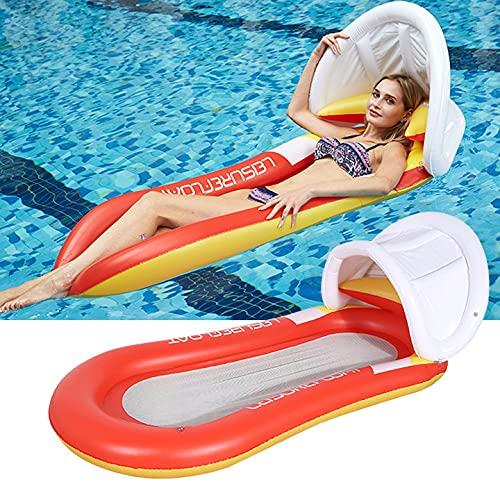 Colchoneta hinchable para piscina, juguete, hamaca, con red, para adultos, 150 x...