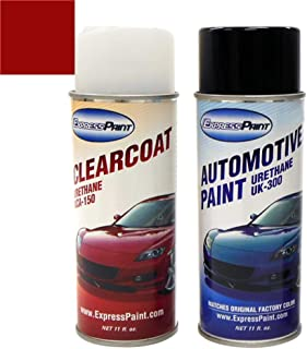 ExpressPaint Aerosol - Automotive Touch-up Paint for Mazda Miata - Classic Red CLE A3E - Color + Clearcoat Package