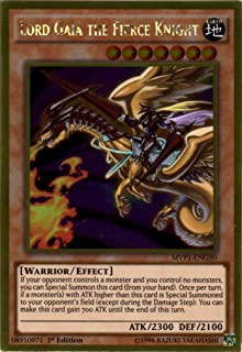 Yu-Gi-Oh! - Lord Gaia the Fierce Knight (MVP1-ENG50) - The Dark Side of Dimensions Movie Pack Gold Edition - 1st Edition - Gold Rare