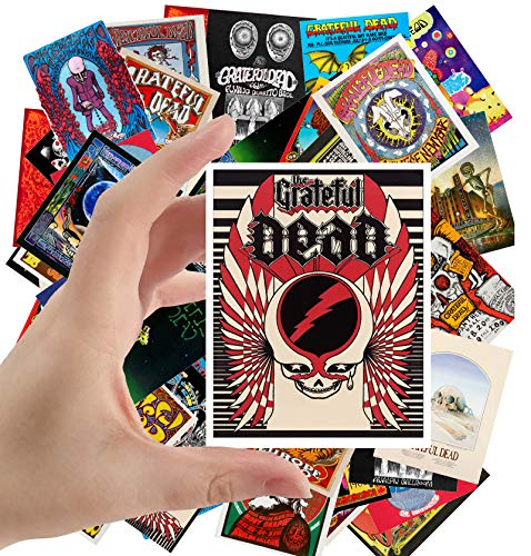 Large Stickers (24 pcs 2.5'x3.5') Grateful Dead Vintage Posters Movies Psychedelic Artwork