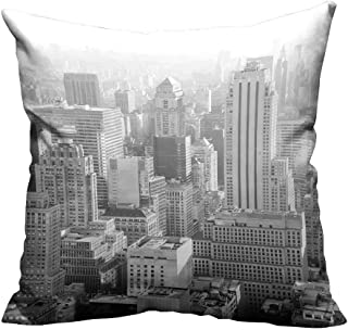 YouXianHome Home Decor Pillowcase urb Architecture in from New York City Durable Polyester Fabric(Double-Sided Printing) 26x26 inch
